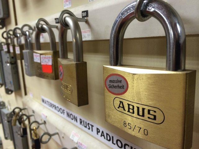 All manner of padlock security supplied